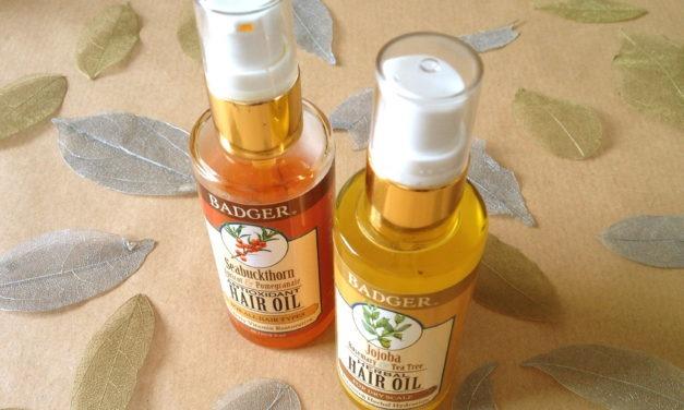 Organic September Day 28: Badger Herbal & Antioxidant Hair Oils